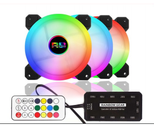 Bộ kit 4 Fan Led RGB + Hub Rainbow
