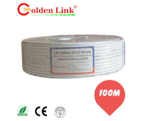 Cable Camera  Golden link RG6/U 100M ko nguồn