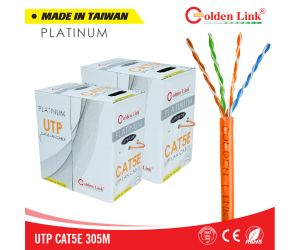 Cable Golden Link 4pair UTP Cat 5e cam PLATIUM MADE IN TAIWAN