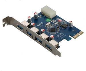 Card PCIe 3.0 x4 to USB 3.0 (4 port)