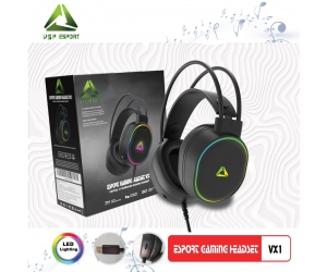 Headphone Gaming ESPORT VX1 7.1  LED (01 Cổng USB)