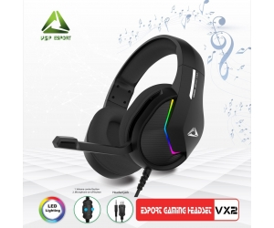 Headphone Gaming ESPORT VX2 LED