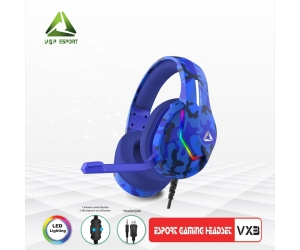 Headphone Gaming ESPORT VX3 LED