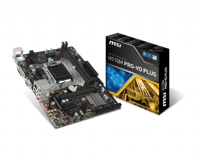 Mainboard MSI H110M PRO-VD/VD Plus Box Renew