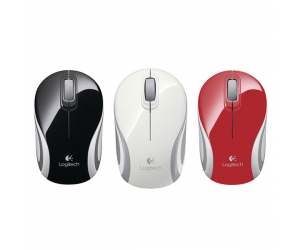 Mouse ko dây LOGITECH M187 Black/Blue/Red/Orange Laser