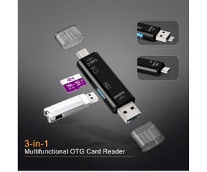Reader OTG 3in1 (Type-C/MicroUSB/TF)